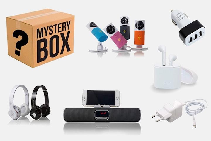 Mystery box med gadgets