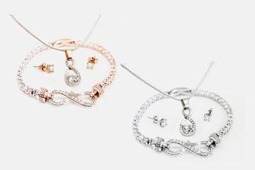 Canis smykkesett med Swarovski-krystaller