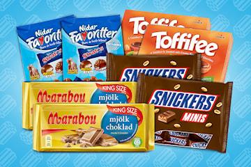 Sjokoladefavoritter, velg mellom to pakker