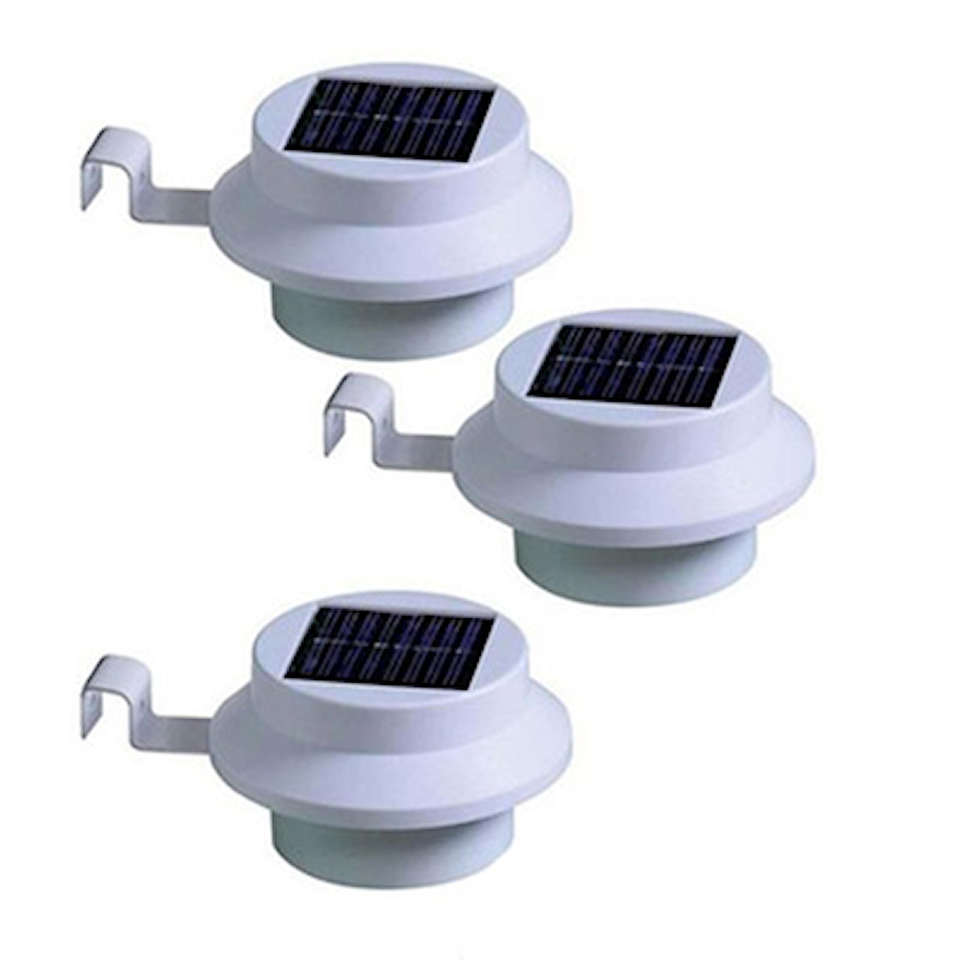 Hvit, Outdoor Solar Lamps, 3-pack utendørs solcellelamper, ,
