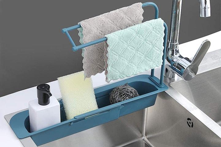 Expanderbar hylla för diskbänken