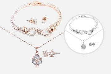Melia smyckeset med Swarovks-kristaller