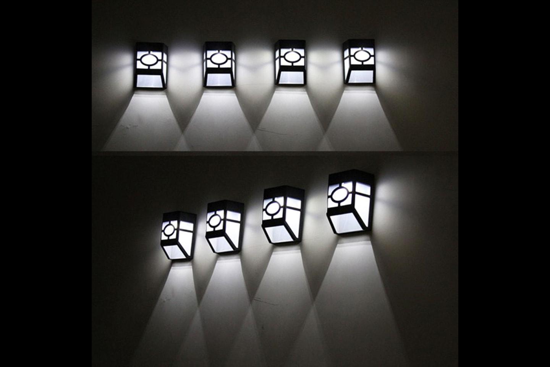 Utendørs solcellelampe med LED