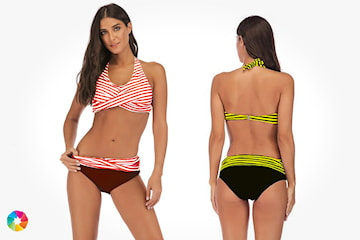 Bikini med åpen rygg