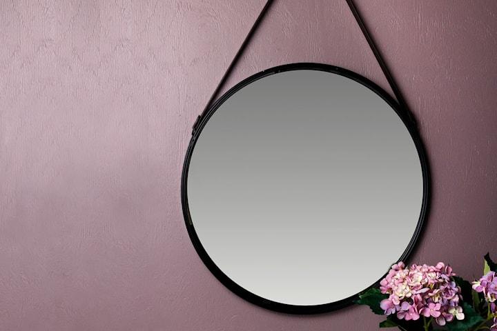 ITS Interior spegel med hänge i PU-läder