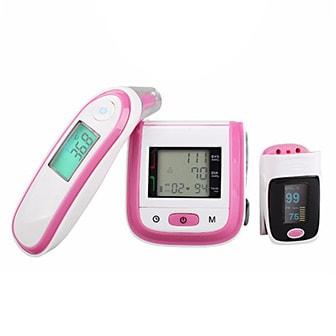 Rosa, Oximeter & Wrist Blood Pressure Monitor & Infrared Body Thermometer Set, Blodtrycksmätare, termometer och pulsoximeter, ,