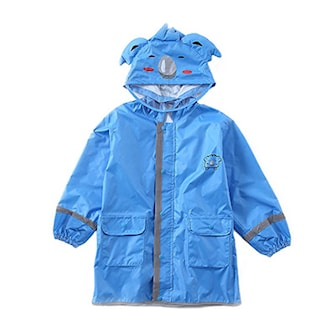 Blå, M, Kids raincoat, Regnjakke til barn, ,