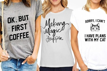 T-skjorte med tekstmotiv
