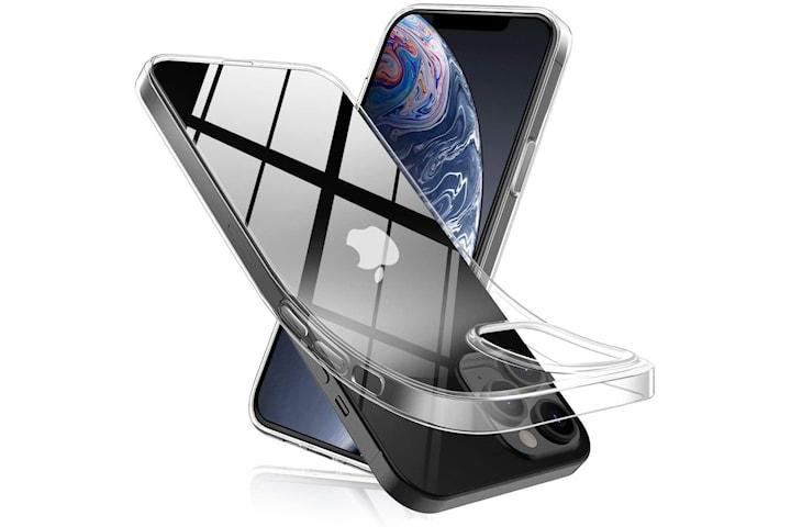 Transparent TPU skal + två st skärmskydd till iPhone 12 Pro Max