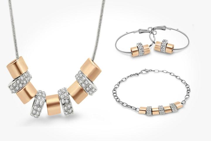 Smyckeset med Swarovski-kristaller
