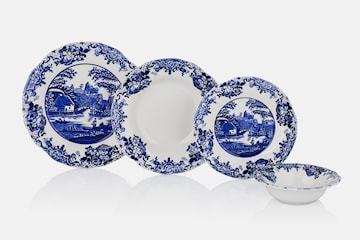Hermia vit/blå Antique middagsset 24 delar