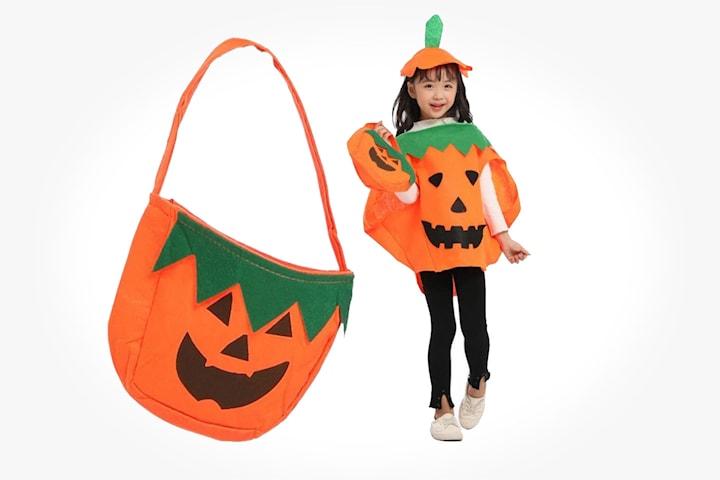 Halloween-kostym pumpa