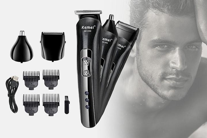 3-i-1 hår- og skjeggtrimmer