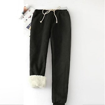 Svart, M, Warm winter Sweatpant with thick lining, Varme joggebukser med tykt fôr,