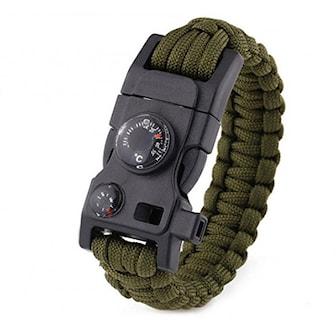 Grön, Survival Wristband, Överlevnadsarmband, ,