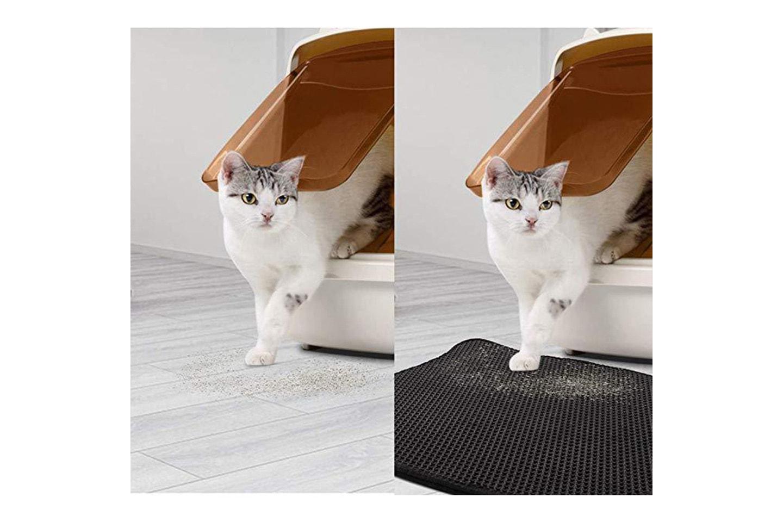Matta för kattsand
