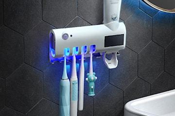 Tannbørsteholder med UV-desinfisering