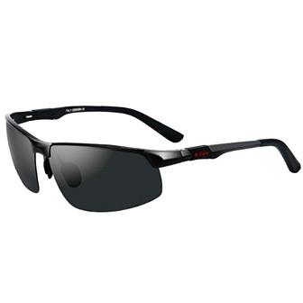 Svart, Aluminum Men Pilot Sunglasses, Polariserande solglasögon, ,  (1 av 1)
