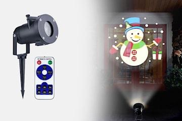 LED-projektor med julemotiver