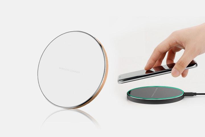Trådløs QI-lader med USB