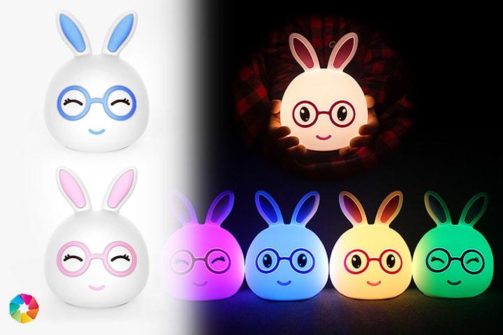 kanin lampe som skifter farge
