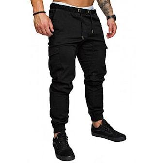Svart, 3XL, Casual Pants For Men, Joggebukser til menn, ,