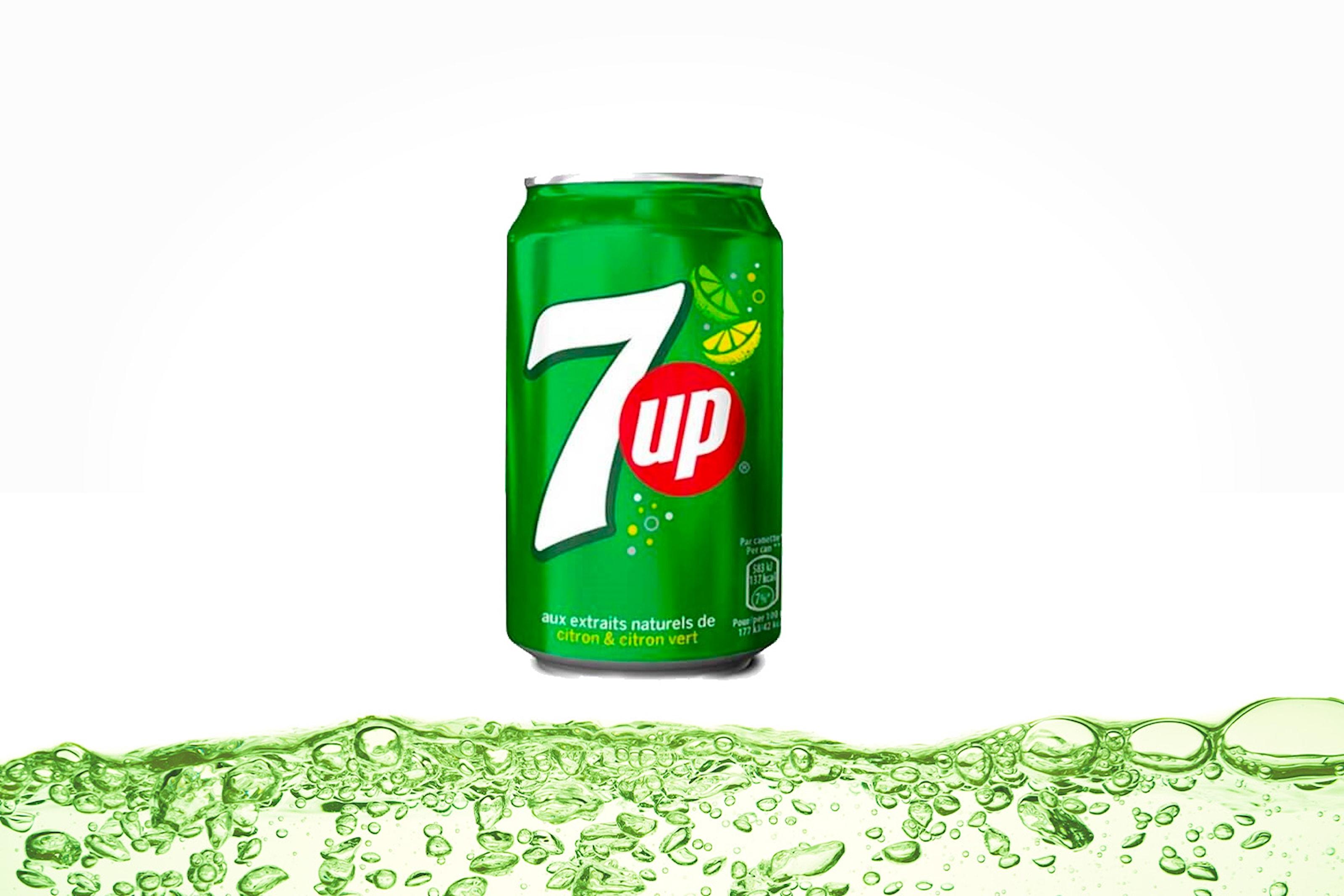 Tre brett med 7UP