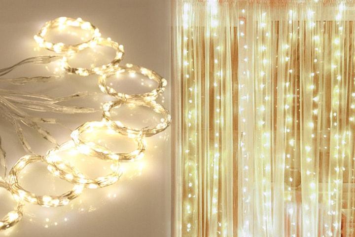 Lysgardin med ti lenker med 30 lys