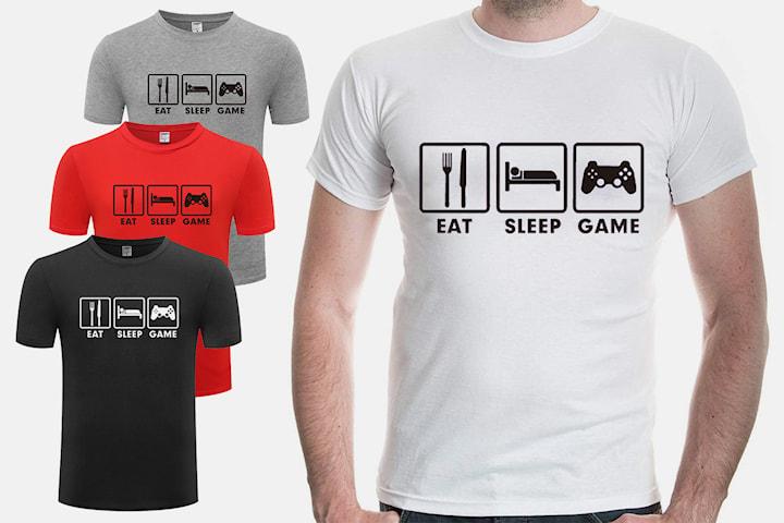 T-skjorte Eat Sleep Game