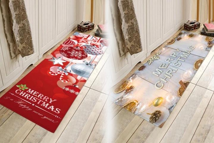 Gulvteppe med julemotiv