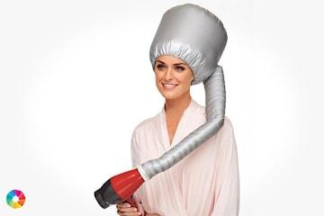 Torkhuv att använda med hårfön