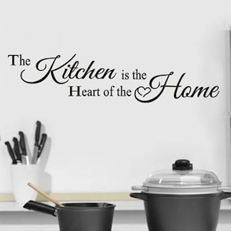 The Kitchen is the Heart of the Home, Wall Quote Stickers, Väggdekor, ,