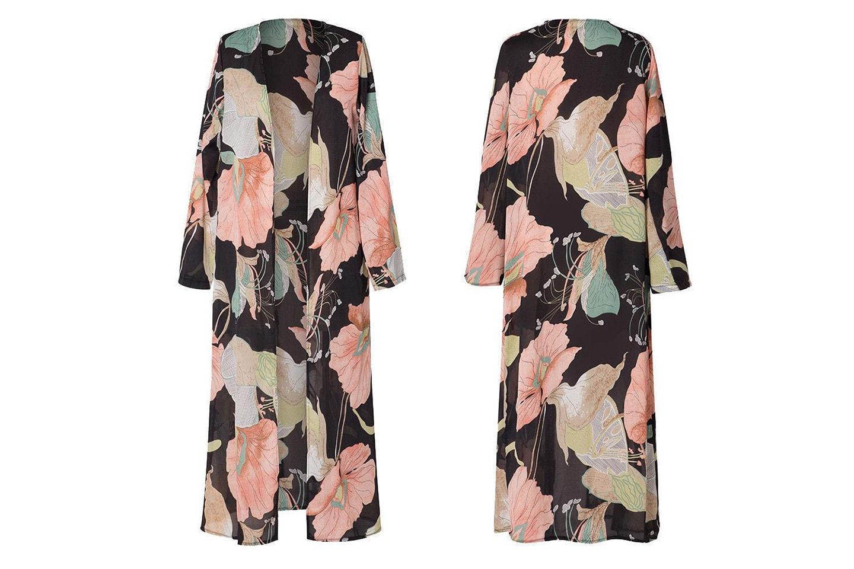 Blommig kimono