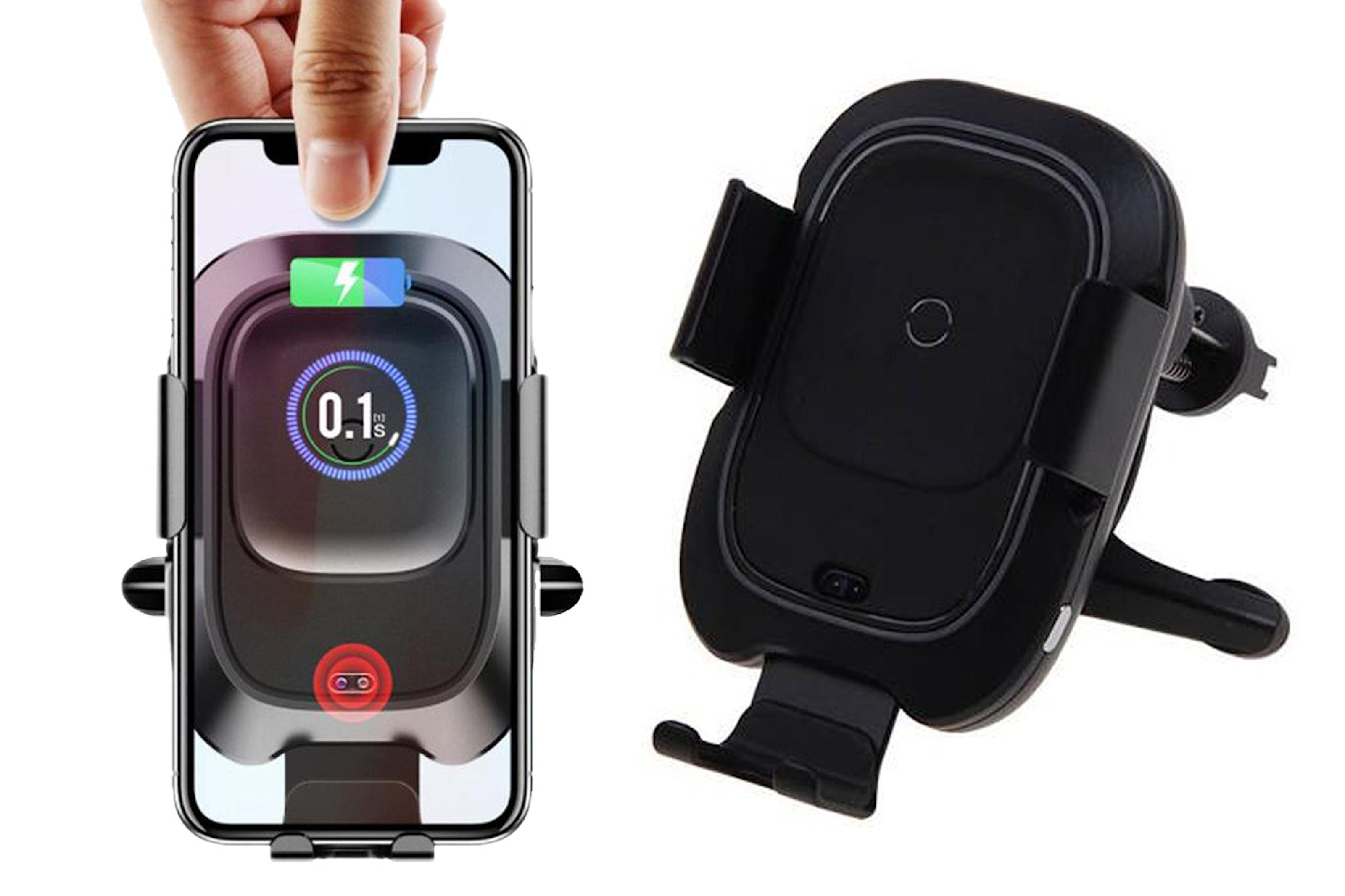 Mobilhållare med QI-laddare till bil