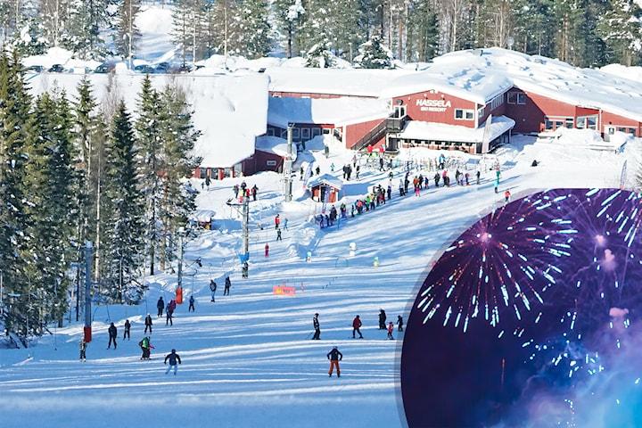 Kortvecka i stuga vid Hassela Ski Resort över nyår