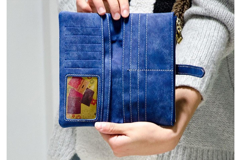 Plånbok i mocka