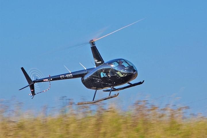 Helikoptertur över Malmö och Helsingborg