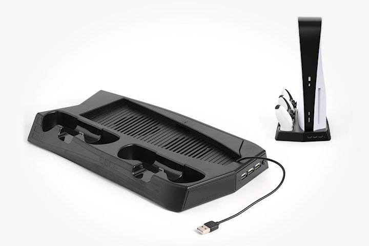 Laddare med kylfläkt för PS5