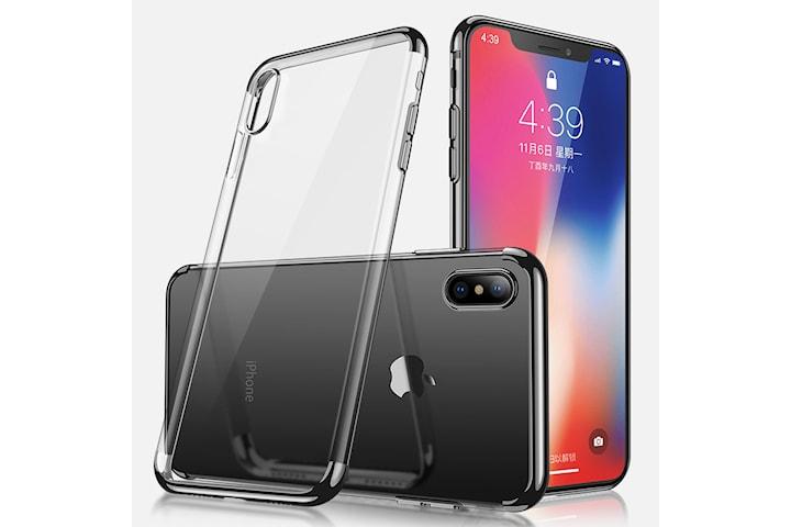 Elektroplated TPU-deksel iPhone 11 med to skjermbeskyttere.