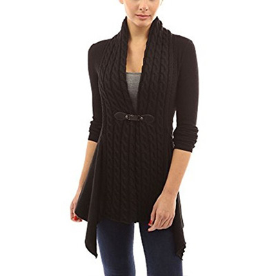 Svart, M, Fashion Long Sleeve Cardigan For Women, Långärmad kofta dam, ,  (1 av 1)