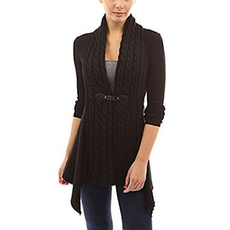 Svart, M, Fashion Long Sleeve Cardigan For Women, , ,