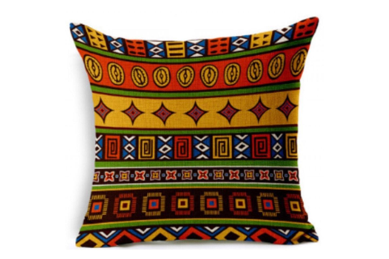 Putetrekk med afrikansk mønster
