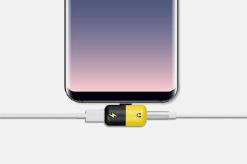 USB-C adapter med hörlursuttag