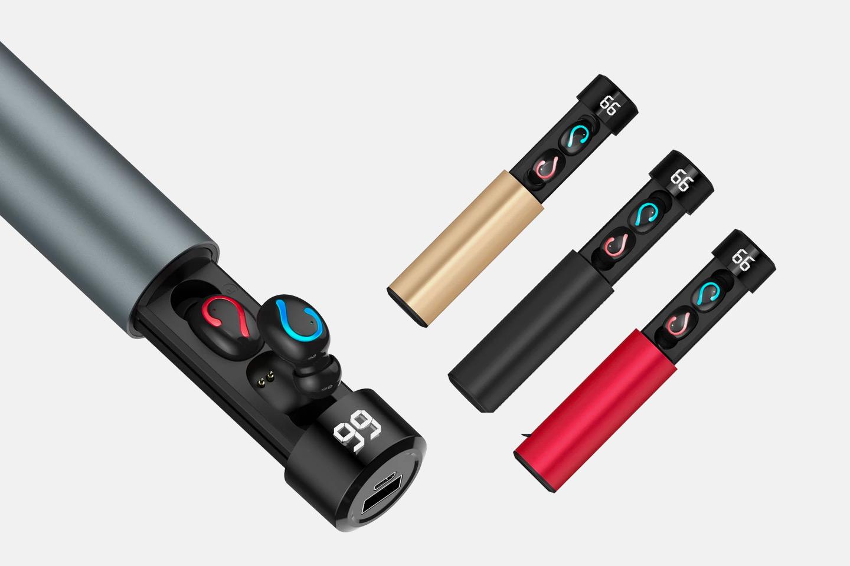2-i-1 Bluetooth in-ear hodetelefoner + powerbank Q67 (1 av 11)