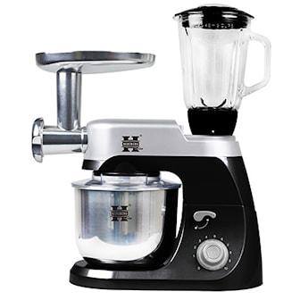 Svart, Herzberg, HG-5029 3-in-1 Multifunctional stand mixer, 4 colors, 3-i-1 köksassistent, ,