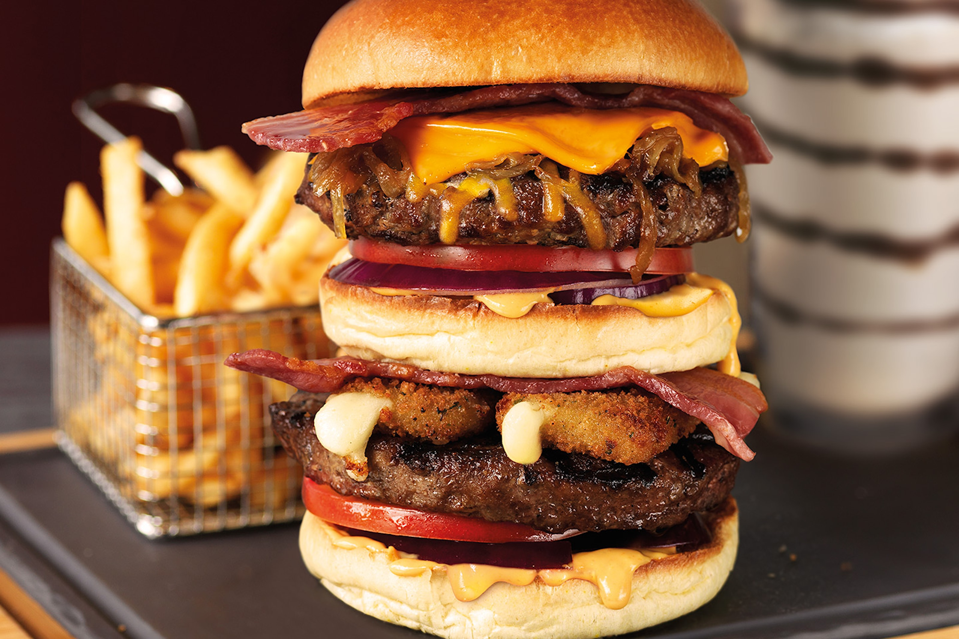 50% rabatt på valfri hamburgare hos TGI Fridays