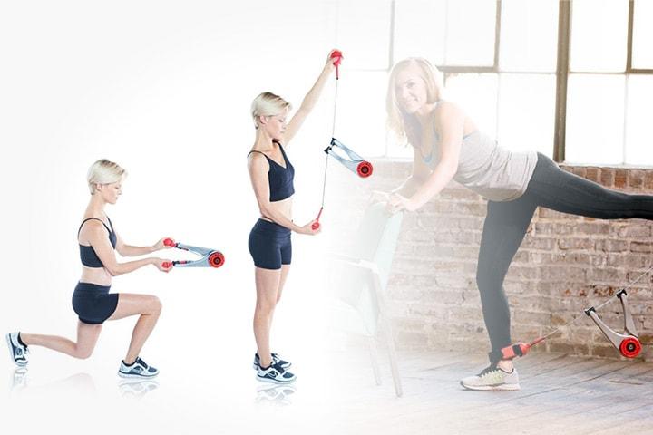 Portabelt gym med 75 olika övningar för hela kroppen