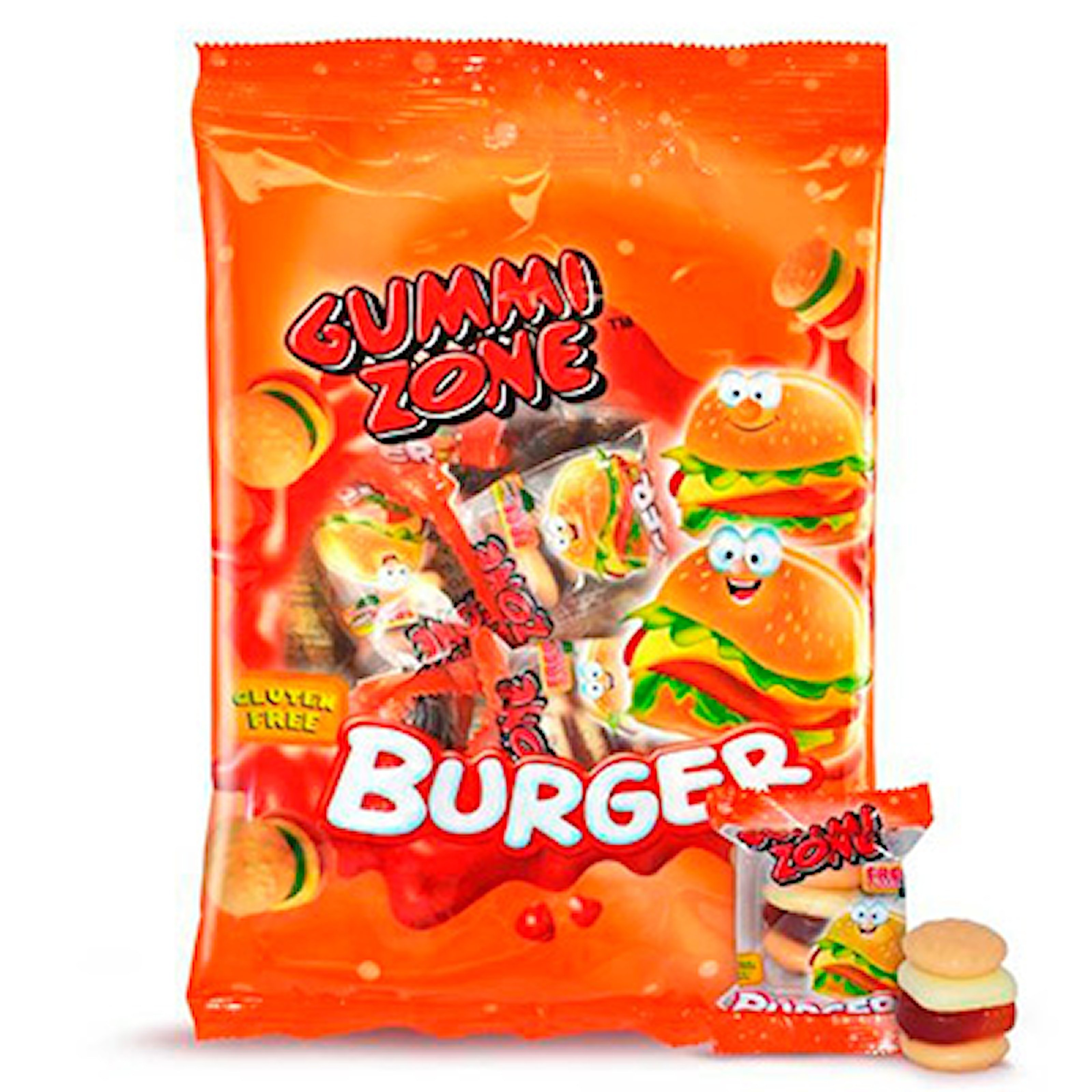 Burger Bag, Gummy Zone Candy, 12-pack Gummy Zone Candy, ,