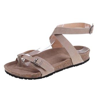 Beige, 37, Gladiator cross strap sandals, Gladiatorsandaler, ,