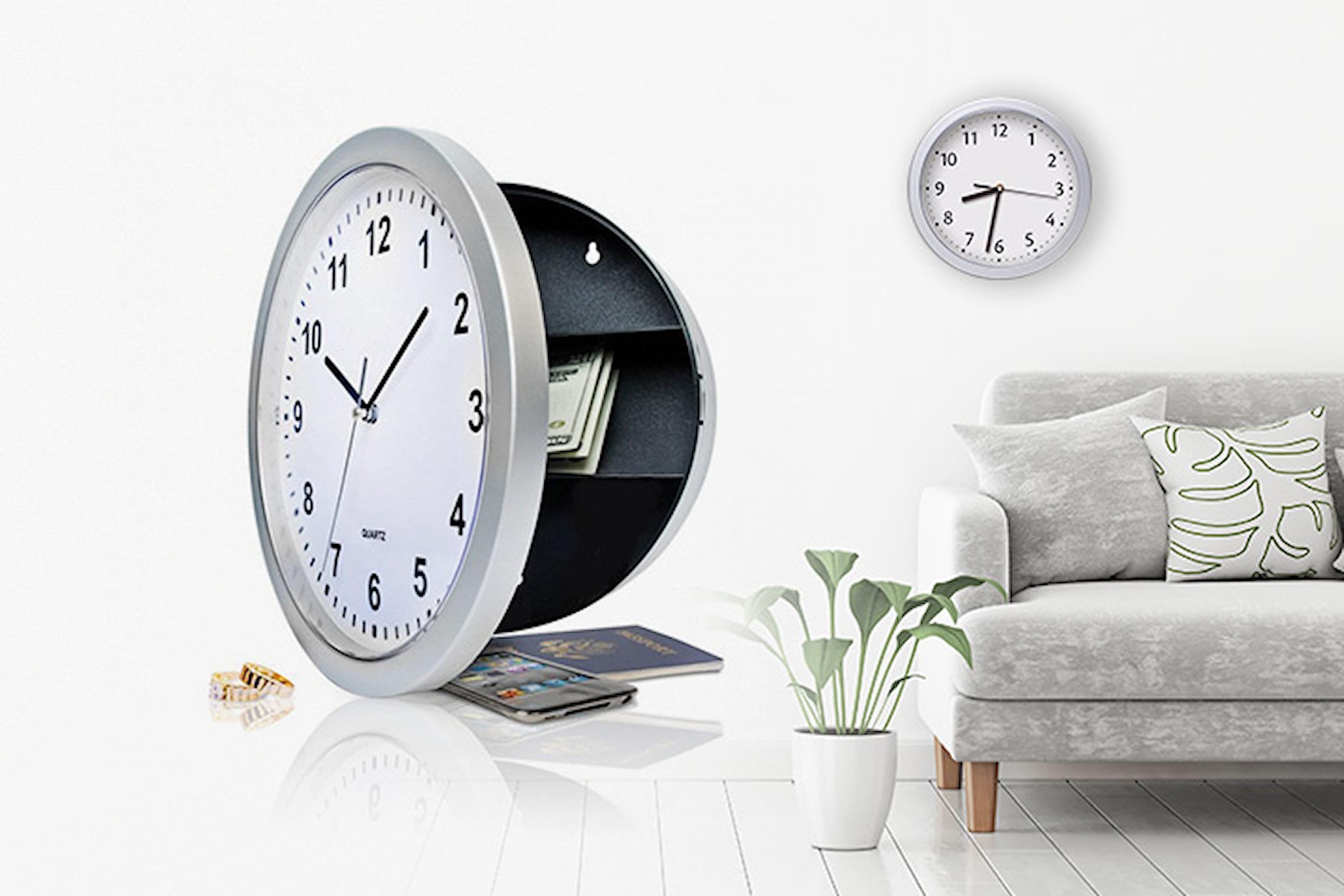 2-i-1: Kombinerad klocka och värdeskåp